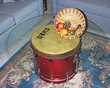 Remo drum in Walfredo Reyes home