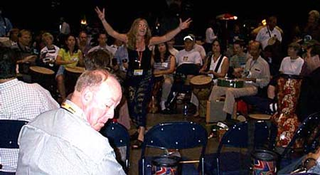 Drum Circle at Summer NAMM
