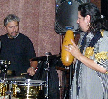 percussionist Luis Conte Chris Trujillo